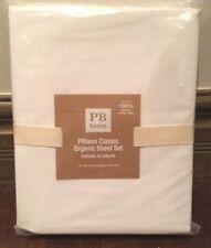 Pottery Barn PB Teen White Classic Organic Extra Long Twin NWT Sheet Set Dorm