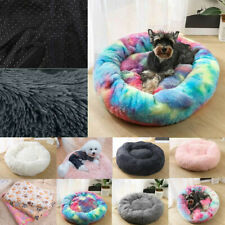 Pet Dog Cat Calming Bed Round Nest Warm Soft Plush Sleeping Bag Comfy Cushion