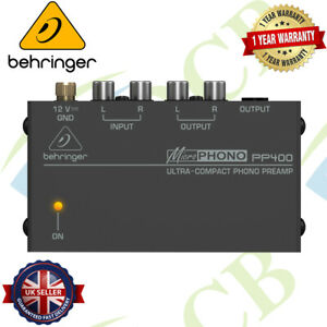 Behringer PP400 Microphono Ultra-Compact Phono Preamp Amplifier