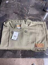 Nwt Chef Coat Cracker Barrel New w/ Tags Back Vent Uniform Size Medium Olive