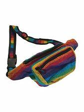 Rainbow Stripe Party Festival Club Rave Bum Bag Waist Money Belt Travel Bag
