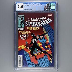 Amazing Spider-Man 252 CGC 9.4 1st BLACK COSTUME Facsimile NM Custom Venom Label