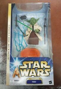 "1/6 Star Wars Attack of the Clones 5"" Yoda figure Hasbro 12 inch scale figure"