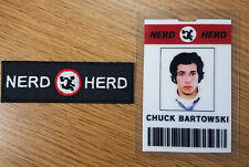 Chuck TV Series ID Badge and Patch Set-Nerd Herd Chuck Bartowski  cosplay