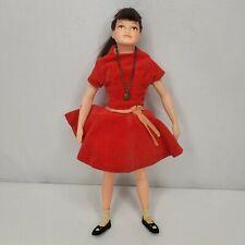 Vintage Remco Libby Littlechap Doll Red Velvet Dress Slip Necklace 1960s Japan