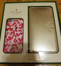 Kate Spade NY Gift Set Gold Wristlet+Flexible Hardshell Case iPhone 6/6S