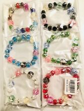 Wholesale 12pcs Mix Color Lot RhineStone Fashion Style Charm Bracelet Bangle Set