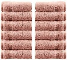 WhiteClassic Luxury Cotton Washcloths - 13x3 Hotel Face Towel | Pink 12/Pack