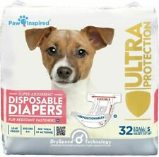 Paw Inspired 013219 Female Disposable Small Dog Diapers 32 Pieces