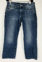 Lucky Brand Womens Classic Rider Crop Jeans Size 4/27 Blue Medium Wash Stretch