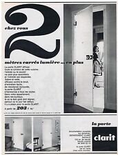 PUBLICITE ADVERTISING 054 1963 CLARIT porte en verre