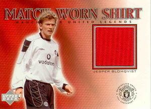 2002 UD Manchester United Legend Trading Card Jersey Card Jesper Blomqvist