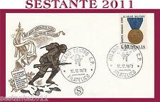 ITALIA FDC FILAGRANO MEDAGLIE D'ORO AL VALOR MILITARE 1973  ANNULLO MILANO G443