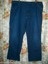 Wrangler Jeans Size  44 by 32 100% Cotton Needs waist fastener back USA
