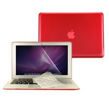 """3in 1 Crystal RED Case Cover for Macbook Air 13"""" A1369 + Key Cover + LCD Screen"""