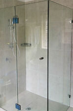 820~920*900 Square Frameless Shower Screen 10mm Heat Soaked Toughened Glass