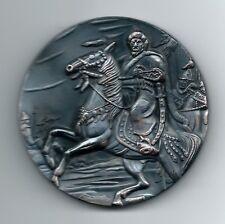 CHINA / Emperor Genghis Khan Bronze Medal A+(1162-1227) / 78 mm / M.27 RARE