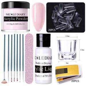 NICOLE DIARY Nail Art Kit Powder Art Set Acrylic Liquid Tips Brush Acrylic Kits