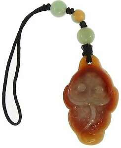 Natural Carved Red Jadeite Jade Three Legged Frog Purse Charm w/ Green & Yellow