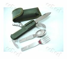 Outdoor Camping 9 in 1 Stainless Steel Cutlery Tools Set Knives Spoon Fork