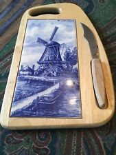 DELF HOLLAND CHEESE BOARD/MAGNET KNIFE
