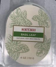 Burts Bees Natural Soy Wax Melts 4 oz Basil Leaf