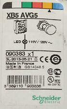 Schneider Electric XB5 AVG5 110/120V Amber Lens LED Pilot Light