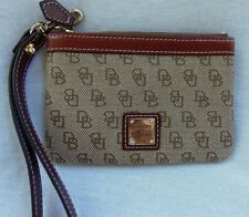 DOONEY & BOURKE SIGNATURE WRISTLET BROWN EXCELLENT CONDITION