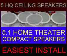 "(5-PACK)  HOME THEATER CEILING WALL - COMPACT SMALL 6.5""  HQ 5.1 SPEAKERS (5X)"
