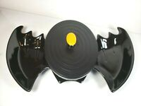 Longaberger Halloween Black Bat Dish & Small Oval Black Bat Basket w/Tags & Lid