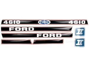 BONNET DECAL SET FOR FORD 4610 FORCE II TRACTORS