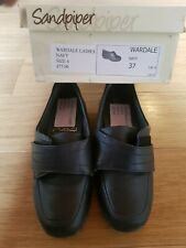 Sandpiper Wardale Ladies Womens Leather shoes - Navy - UK Size 4