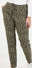 Italian Ladies Pebble Print Magic Trousers Pants Stretchy