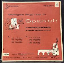 1953 Madrigal's Magic Key To Spanish 1 & 2 VG+ 2 LP w/Book RARE Andy Warhol Art