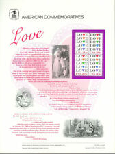 #208 20c Love Stamp - Hearts #2072 USPS Commemorative Stamp Panel
