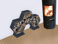 Kaminholzregal Brennholzregal Hexagon XL-360 bis 30cm lange Scheite 0,28m3 5-tl.
