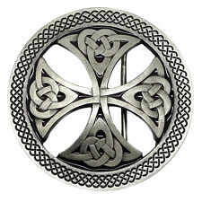 Celtic Knot Belt Buckle Cut Out Circular Round Cross Authentic Branded Product