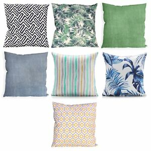 """Square Filled Cushion Outdoor Water Resistant Garden Dining 18"""" or 22"""" Scatter"""