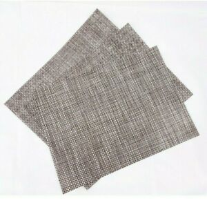 """Chilewich Basketweave Rectangular Placemats in Oyster 14"""" W x 19"""" L (3)"""