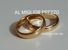 Coppia Fede Nuziale placcato oro 18kt Fedina da 3g Gold Plated 18k Wedding Rings