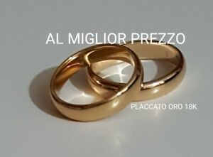 Coppia di Fedi placcate In oro 18kt Fedina da 3g Gold Plated 18k Wedding Rings