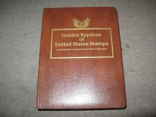 Lot of 6 Golden Replicas of United States Stamps. 139 Pages Filled, 417 Covers