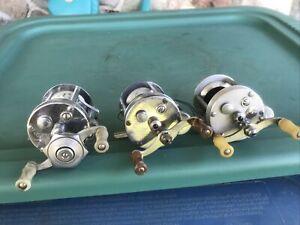 (3) VTG Baitcaster Reels Pflueger Nobby Mark 1953, Pflueger 1895, Pflueger 1893L