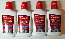 4 X COLGATE OPTIC WHITE HIGH IMPACT WHITE MOUTHWASH ICY FRESH MINT 16oz 2020