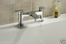LIBRA WATERFALL BATHROOM TAP BATH FILLER CHROME MODERN DESIGN SOLID BRASS