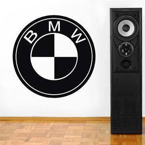 BMW LOGO Decal WALL STICKER Home Decor Art ALL COLORS Cars Emblem ST73