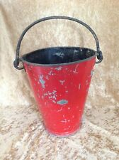 Vintage Fire Bucket c1950s - Good rivited construction