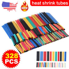 328pcs Car Assorted Electrical Cable Heat Shrink Tube Tubing Wrap Sleeve Kit Us