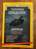 National Geographic Magazine - December 1970 Our Ecological Crisis. With Map