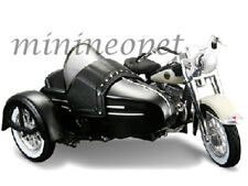 MAISTO 03176 HARELY DAVIDSON 1958 FLH DUO GLIDE with SIDE CAR 1/18 BLACK / WHITE